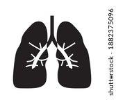 lung icon a vector design...   Shutterstock .eps vector #1882375096