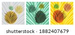 set of creative hand painted... | Shutterstock .eps vector #1882407679