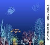 underwater background with... | Shutterstock .eps vector #188240816