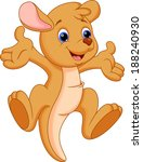 Cute Baby Kangaroo Cartoon