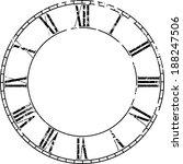 vector vintage clock on white . ...   Shutterstock .eps vector #188247506