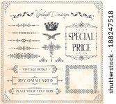 vintage frames and design... | Shutterstock .eps vector #188247518