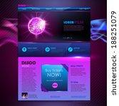 web site template design. disco ...   Shutterstock .eps vector #188251079