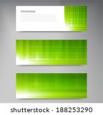a set of modern vector banners... | Shutterstock .eps vector #188253290
