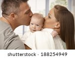 young mother and father holding ... | Shutterstock . vector #188254949