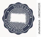 south dakota stamp. travel...   Shutterstock .eps vector #1882560220