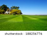 perfectly striped freshly mowed ... | Shutterstock . vector #188256776
