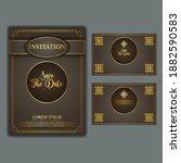 luxury and elegant gold vintage ... | Shutterstock .eps vector #1882590583