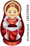 matryoshka doll with the bread...   Shutterstock .eps vector #188259848