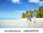 young beautiful couple on a... | Shutterstock . vector #188260904