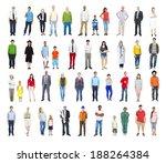 group of multiethnic diverse... | Shutterstock . vector #188264384