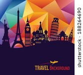 travel and tourism background | Shutterstock .eps vector #188264690