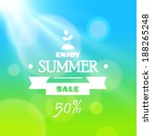 summer sale banner. vector... | Shutterstock .eps vector #188265248