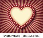 brightly glowing heart retro...   Shutterstock .eps vector #1882661203