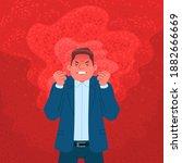businessman expressing anger.... | Shutterstock .eps vector #1882666669