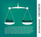 weighing the risks and rewards  | Shutterstock .eps vector #188268038