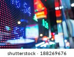 display of stock market quotes  | Shutterstock . vector #188269676
