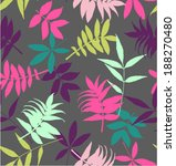 seamless tropical leaves vector ... | Shutterstock .eps vector #188270480