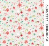 seamless vintage tiny floral... | Shutterstock .eps vector #188270540