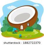vector illustration of split... | Shutterstock .eps vector #1882722370