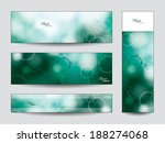 abstract vector banners or... | Shutterstock .eps vector #188274068