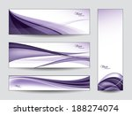 abstract vector banners or... | Shutterstock .eps vector #188274074