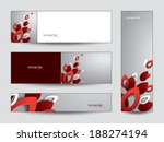 abstract vector banners or... | Shutterstock .eps vector #188274194
