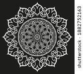 flower mandala in floral style  ...   Shutterstock .eps vector #1882752163