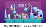 conducting chemical test or... | Shutterstock .eps vector #1882756489