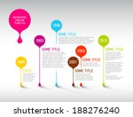 colorful  vector infographic... | Shutterstock .eps vector #188276240