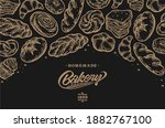 card design with ink hand drawn ... | Shutterstock .eps vector #1882767100