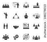business people online meeting... | Shutterstock .eps vector #188278010