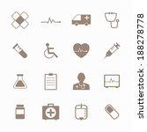 medical icon set | Shutterstock .eps vector #188278778