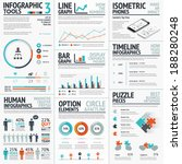 stunning infographic elements... | Shutterstock .eps vector #188280248