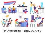 people in beauty salon...   Shutterstock . vector #1882807759