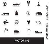 motoring icons eps10 | Shutterstock .eps vector #188282834