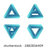 impossible shapes. penrose... | Shutterstock .eps vector #1882836409