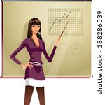 the woman give presentation    Shutterstock .eps vector #188286539