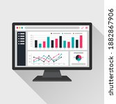 web analytic information on... | Shutterstock .eps vector #1882867906