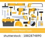 repair worker tools vector...   Shutterstock .eps vector #1882874890