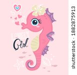 beautiful seahorse wearing...   Shutterstock .eps vector #1882875913