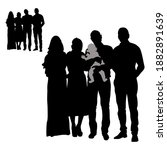 vector black silhouettes of two ... | Shutterstock .eps vector #1882891639