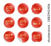 vector labels isolated on white ... | Shutterstock .eps vector #1882941406