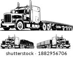 American Truck With Flatbed...