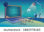 online education application...   Shutterstock .eps vector #1882978183