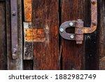 Rusty Metal Hinge  Old Gate