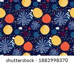 colorful seamless pattern with... | Shutterstock .eps vector #1882998370