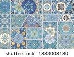 Vector Patchwork Quilt Pattern. ...