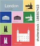 Landmarks Of London. Set Of...