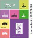 Landmarks Of Prague. Set Of...